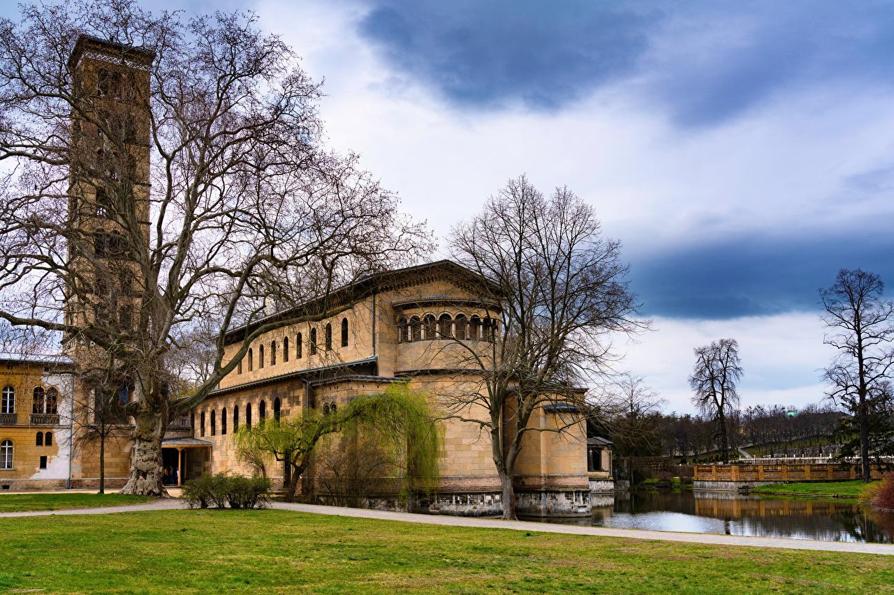 Картинка Берлин Германия Potsdam, Castle of the Prussian kings замок Города Замки город