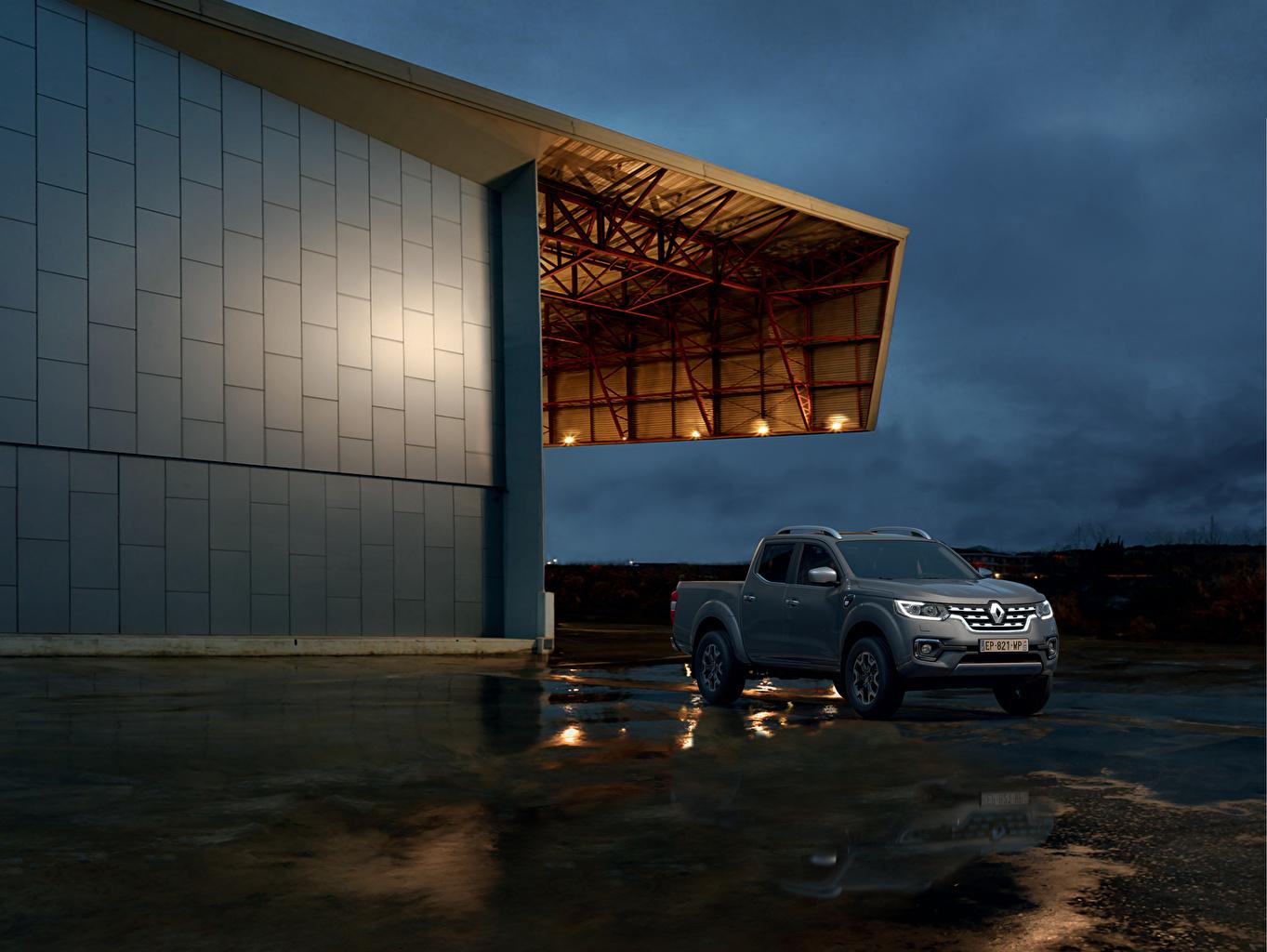 Фотография Рено 2019 Alaskan Worldwide Пикап кузов серая Автомобили Renault серые Серый авто машина машины автомобиль