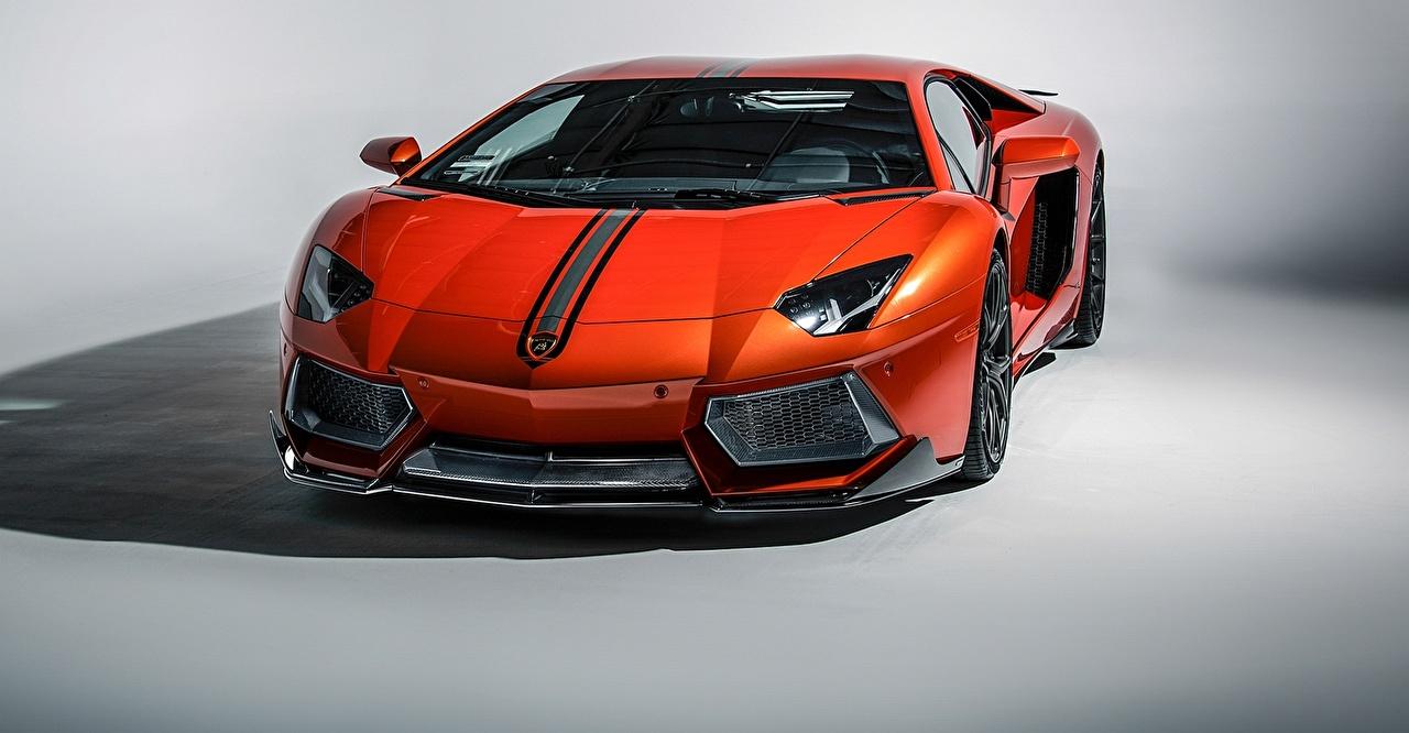 Фотография Lamborghini 2015 aventador lp-700-4 Купе Роскошные оранжевая Автомобили Ламборгини дорогие дорогой дорогая люксовые роскошная роскошный оранжевых оранжевые Оранжевый авто машина машины автомобиль