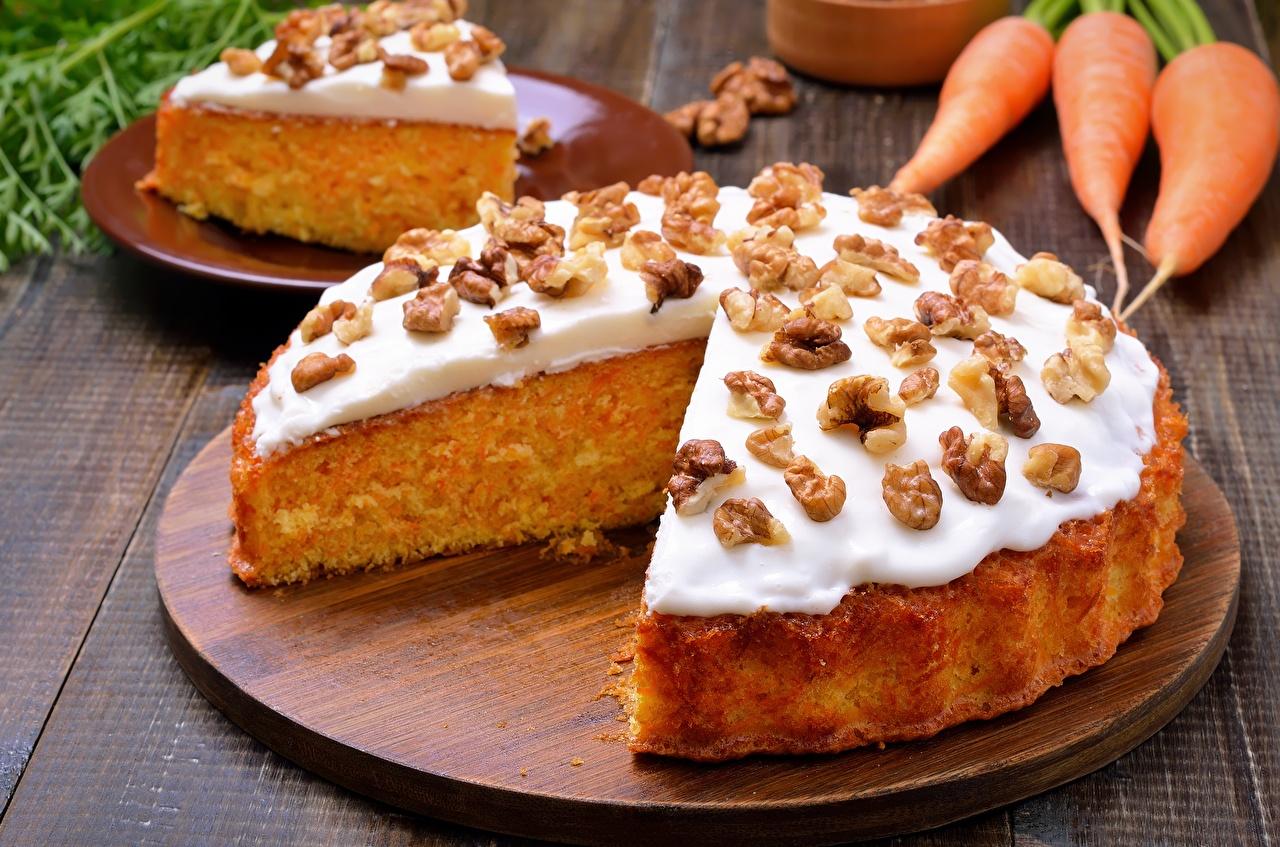 Фото Продукты питания Пирог Грецкий орех Орехи Еда Пища