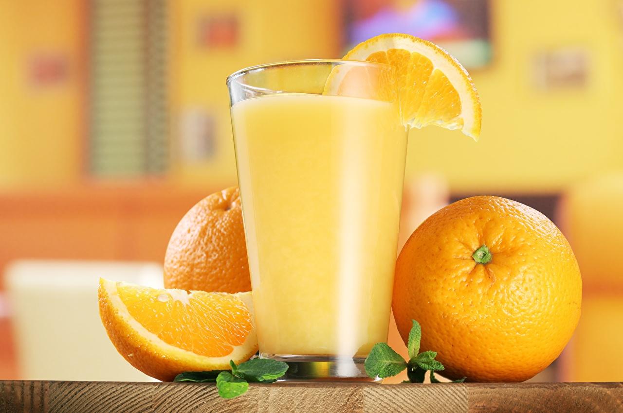 Обои для рабочего стола Сок Апельсин Стакан Еда стакана стакане Пища Продукты питания