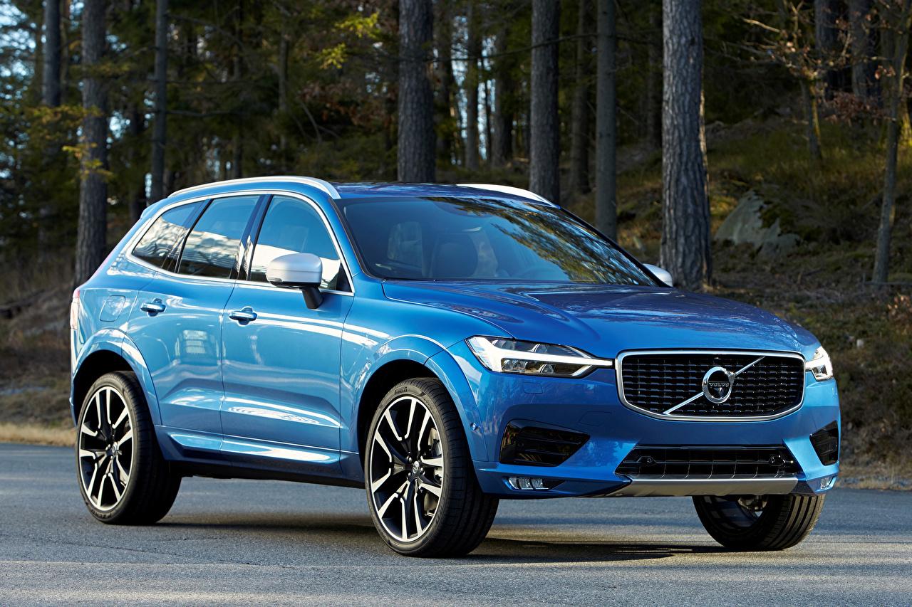 Фотографии Volvo 2017 XC60 T6 R-Design Голубой машины Металлик Вольво голубых голубые голубая авто машина автомобиль Автомобили