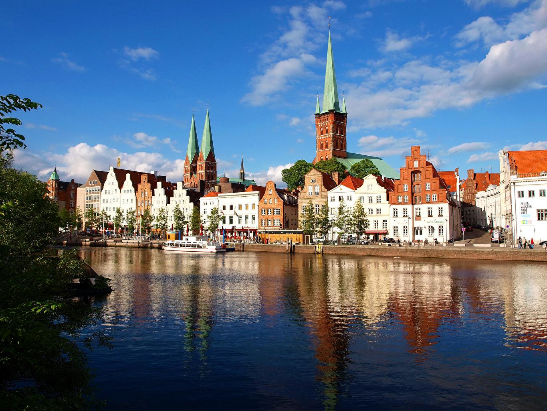 Обои любек, германия, здания, дома. Города foto 10