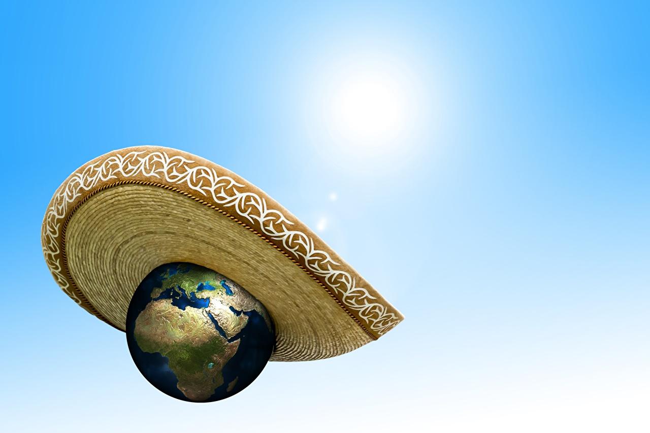 Фотография Земля global warming Шляпа Космос земли шляпы шляпе