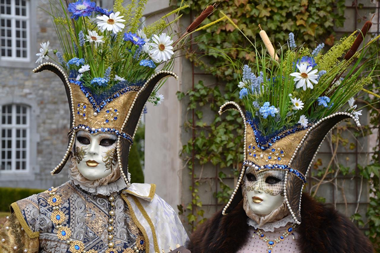Фотографии букет 2 Маски Карнавал и маскарад Букеты два две Двое вдвоем