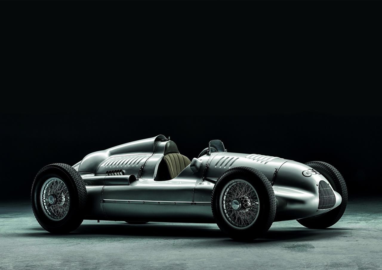 Фото Horch, Typ D, DKW старинные Сбоку машины Ретро винтаж авто машина Автомобили автомобиль