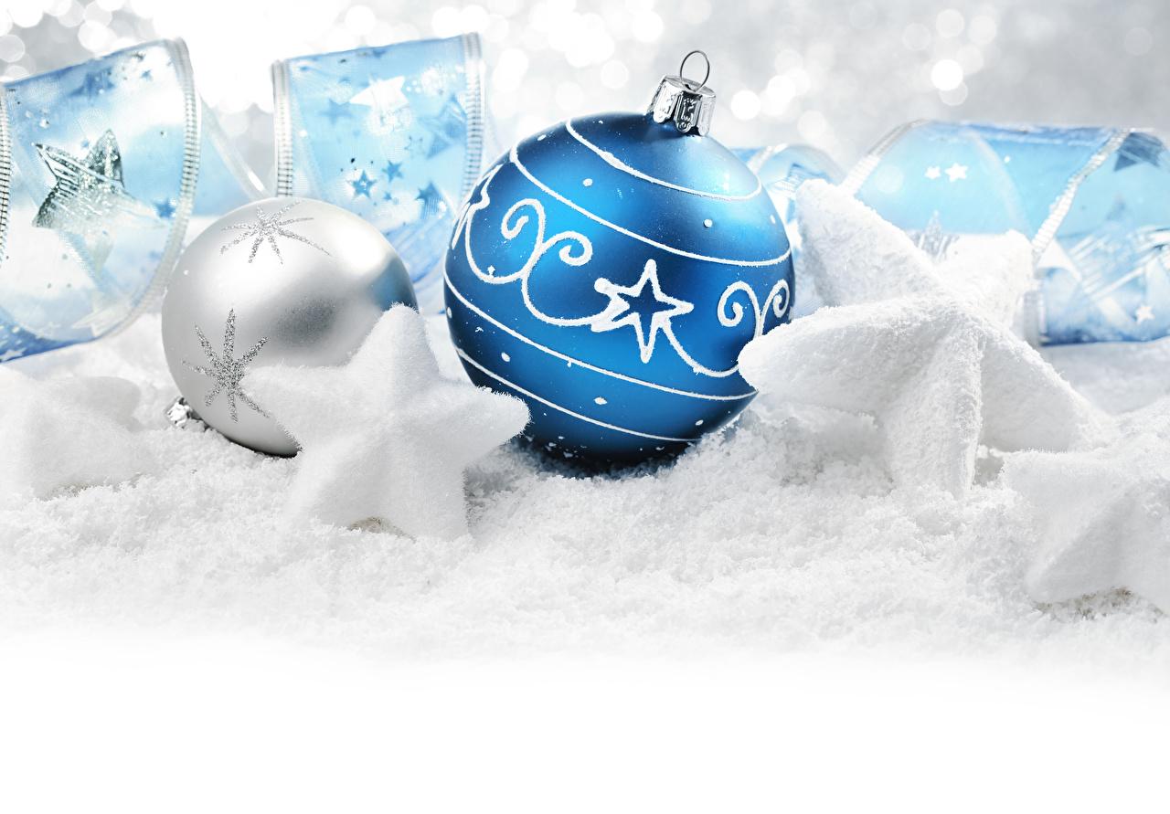 Фотографии Рождество Звездочки Шар ленточка Новый год Лента Шарики