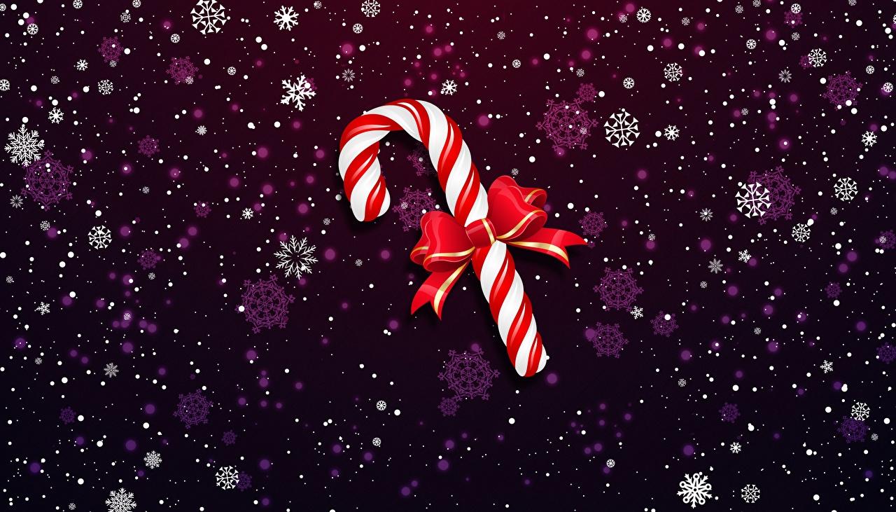 Картинки Рождество Леденцы бант Новый год Бантик бантики