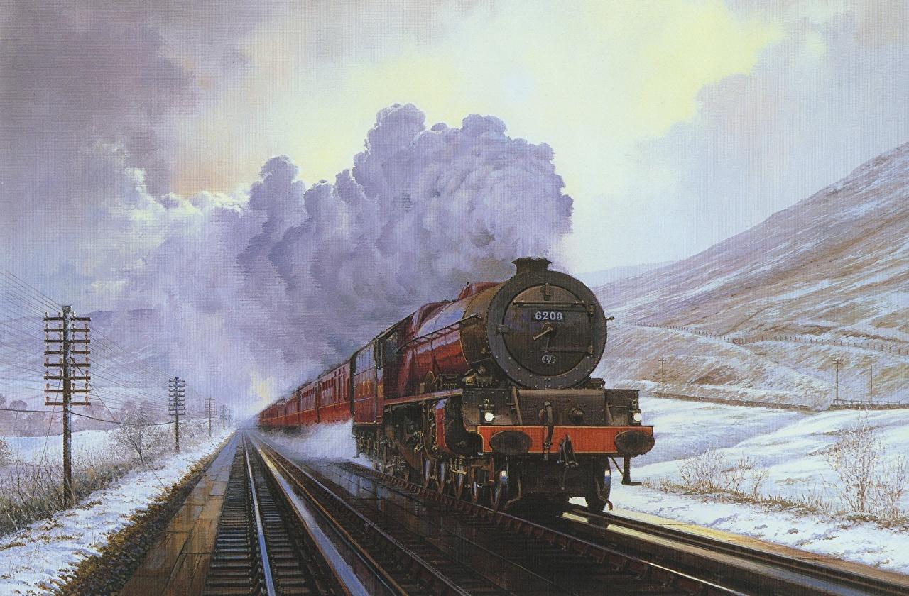 Обои локомотив