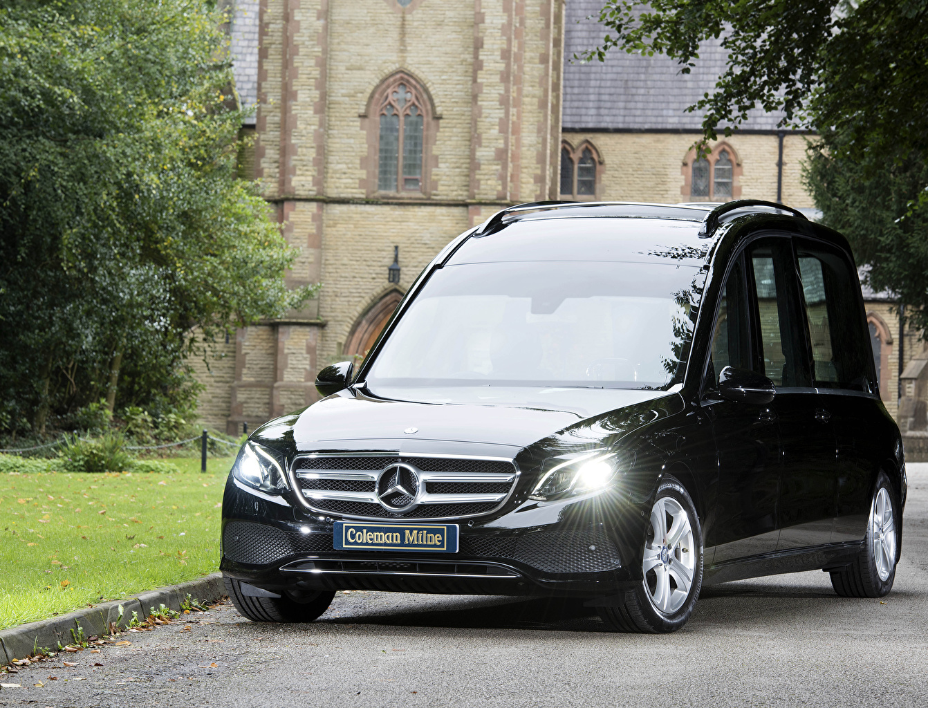 Обои Мерседес бенц 2017-19 Coleman Milne Mercedes-Benz E-Klasse Hearse Черный Металлик Автомобили Авто Машины