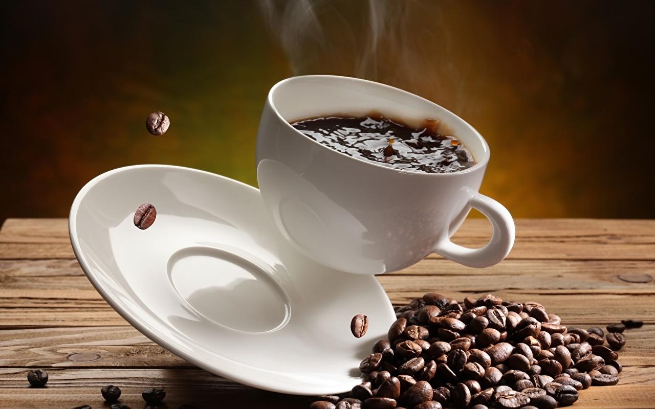 Обои для рабочего стола Кофе Зерна Еда чашке блюдца зерно Пища Чашка Блюдце Продукты питания