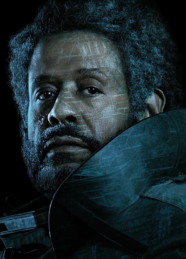 Обои Изгой-один. Звёздные войны: Истории Мужчины Saw Gerrera (Forest Whitaker) Борода Негр Лицо Фильмы Черный фон Знаменитости Кино