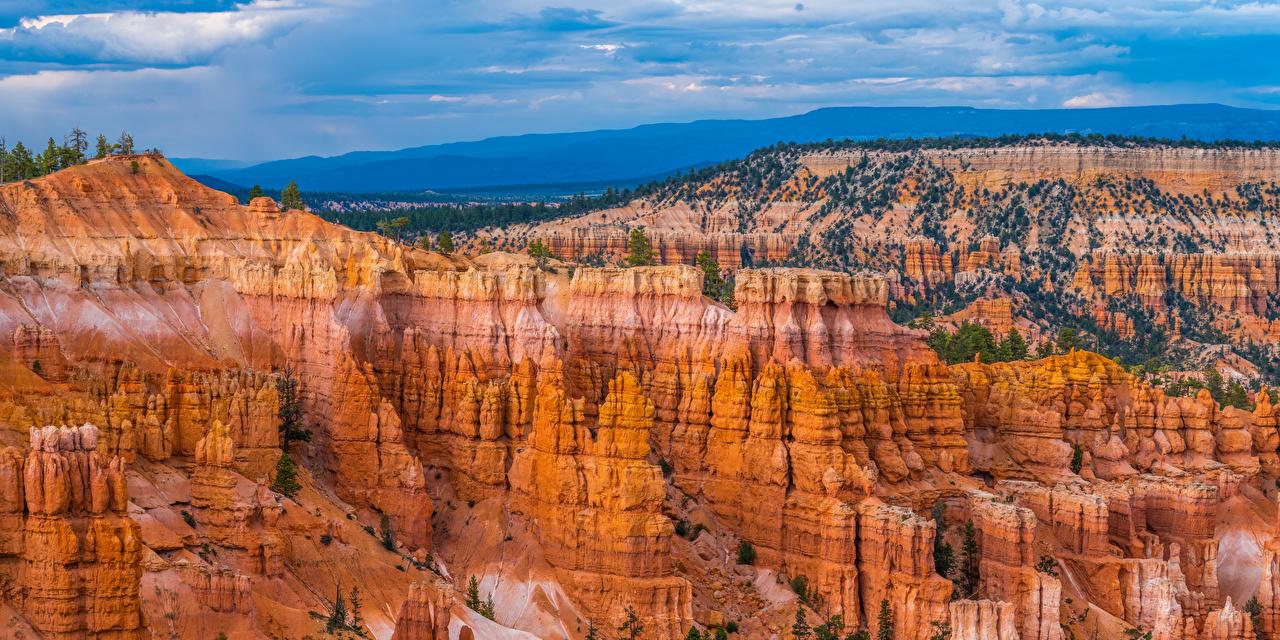 Обои для рабочего стола штаты Bryce Canyon National Park Скала Каньон Природа Парки США америка Утес скале скалы каньона каньоны парк