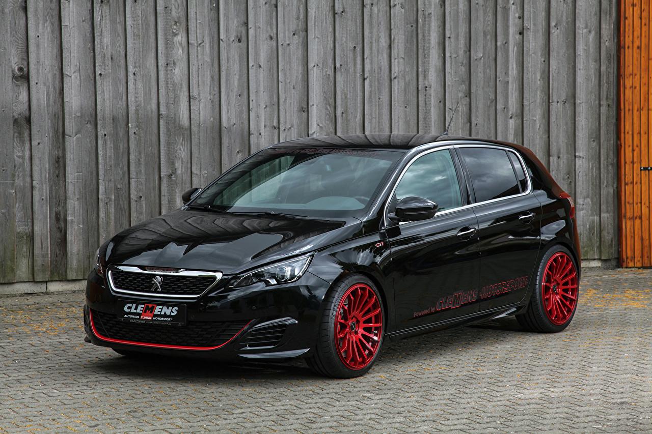 Картинки 2018 Clemens Motosport Peugeot 308 GTi Черный Авто Металлик Пежо Машины Автомобили