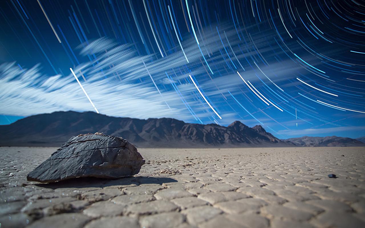 Картинка Death Valley The Racetrack Горы Пустыни Природа Камни гора пустыня Камень