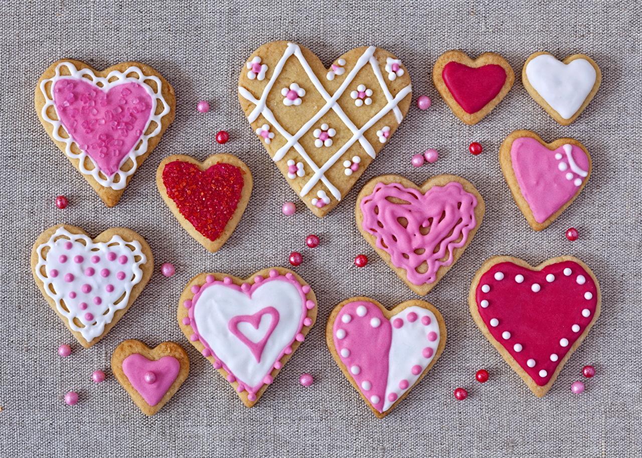 Картинки сердечко Еда Печенье серце сердца Сердце Пища Продукты питания