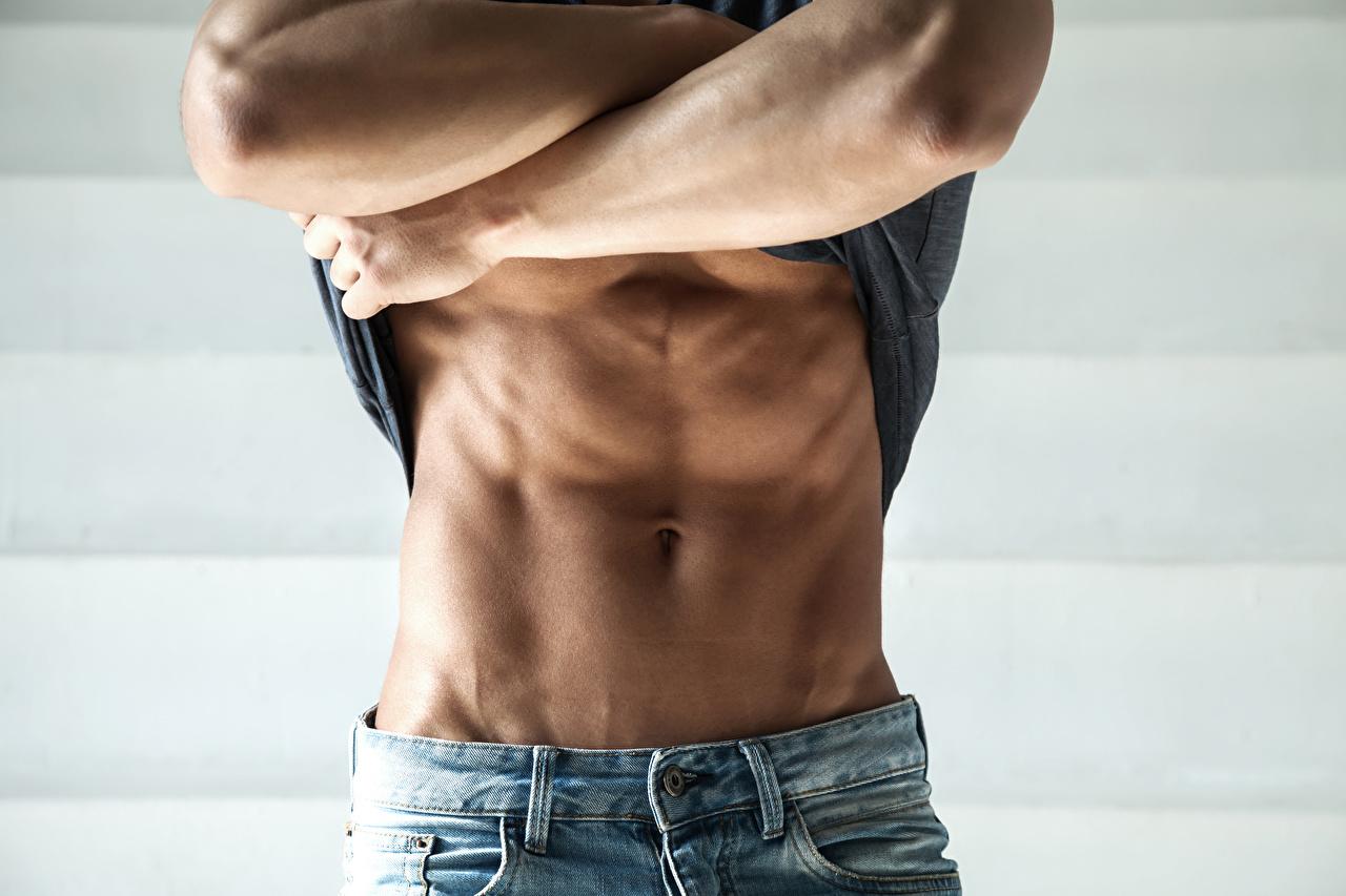 Картинка Мышцы мужчина спортивные Живот мускулы Мужчины Спорт спортивный спортивная живота
