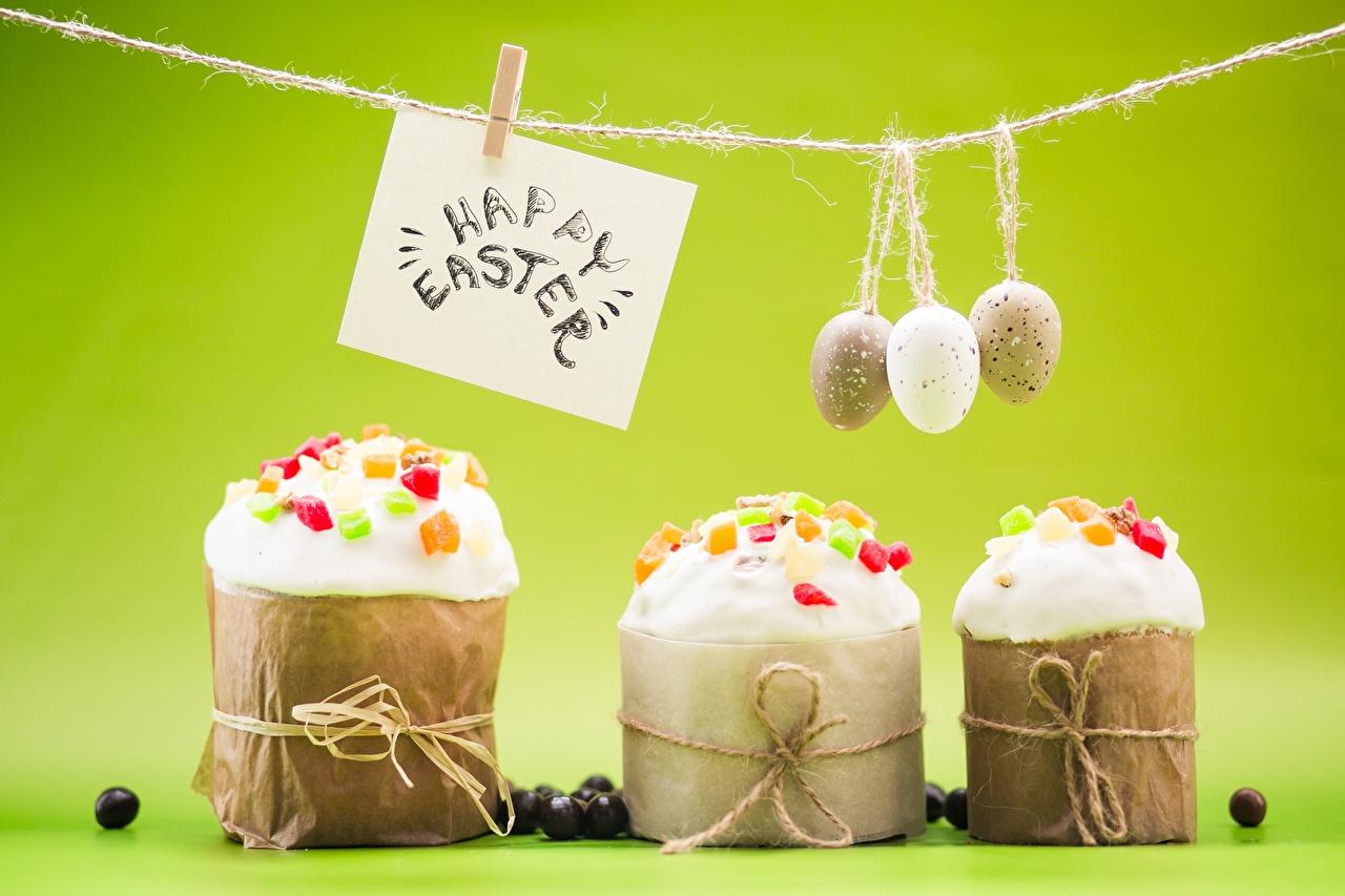 Обои для рабочего стола Пасха инглийские Прищепки яиц Кулич Слово - Надпись Еда английская Английский яйцо Яйца яйцами слова текст Пища Продукты питания