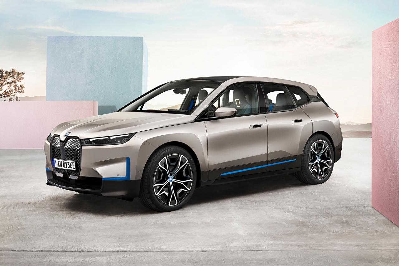 Картинки BMW Кроссовер iX, Worldwide, (i20), 2021 Серый Металлик Автомобили БМВ CUV серая серые авто машины машина автомобиль
