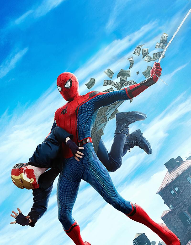 Картинка Человек-паук: Возвращение домой Герои комиксов Человек паук герой кино  для мобильного телефона супергерои Фильмы
