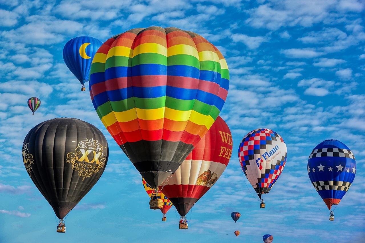 Обои для рабочего стола Воздушный шар Полет Много