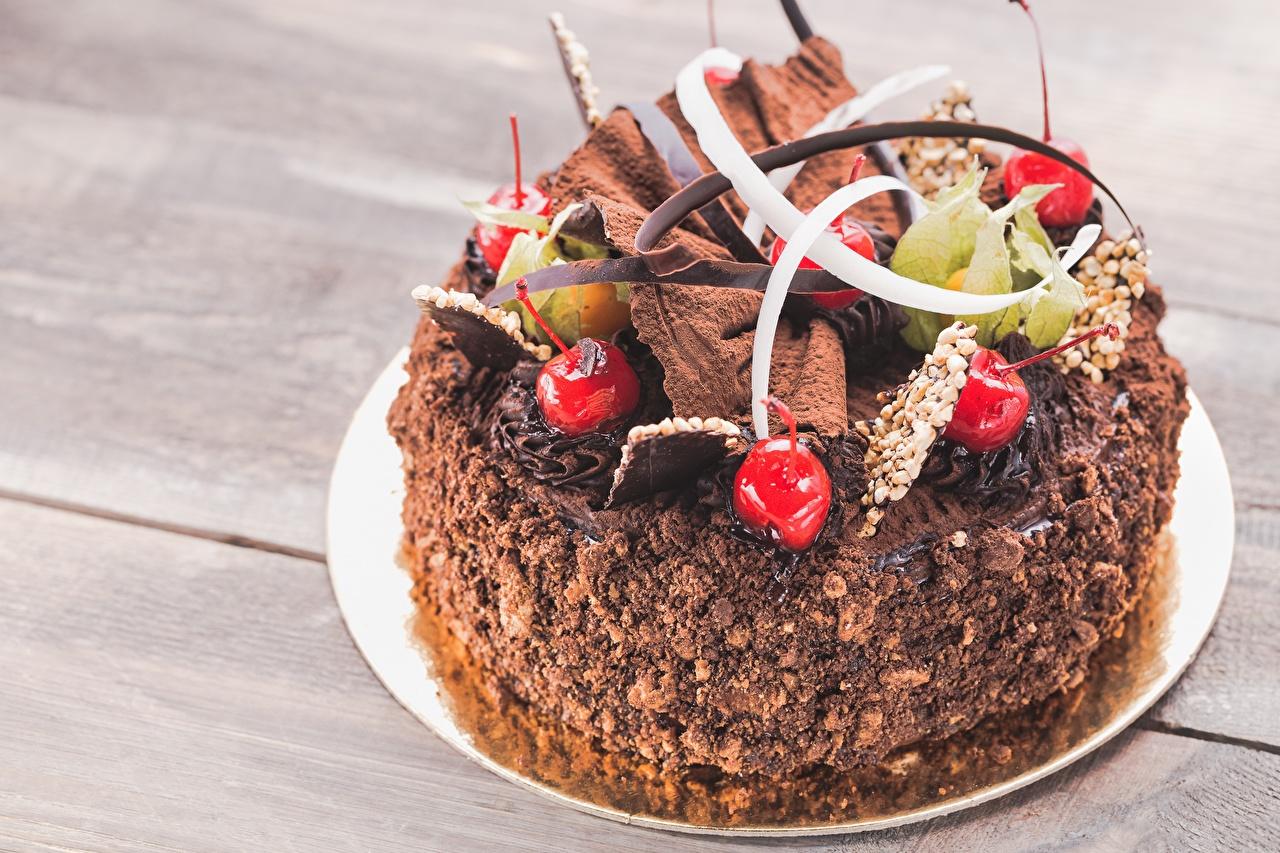 Фотографии Шоколад Торты Черешня Еда Дизайн Вишня Пища Продукты питания