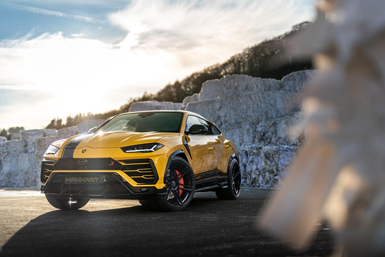 Обои для рабочего стола Lamborghini Кроссовер Urus SSUV, 2020 Желтый машины Металлик Ламборгини CUV желтая желтые желтых авто машина Автомобили автомобиль