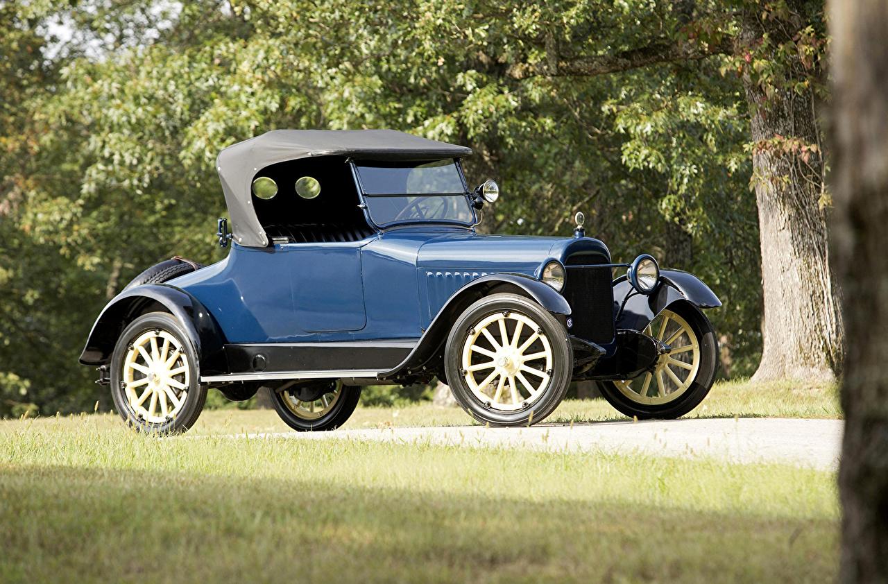 Фотография 1917 Chalmers Model 6-30 Roadster Родстер Синий старинные Машины Ретро Винтаж Авто Автомобили