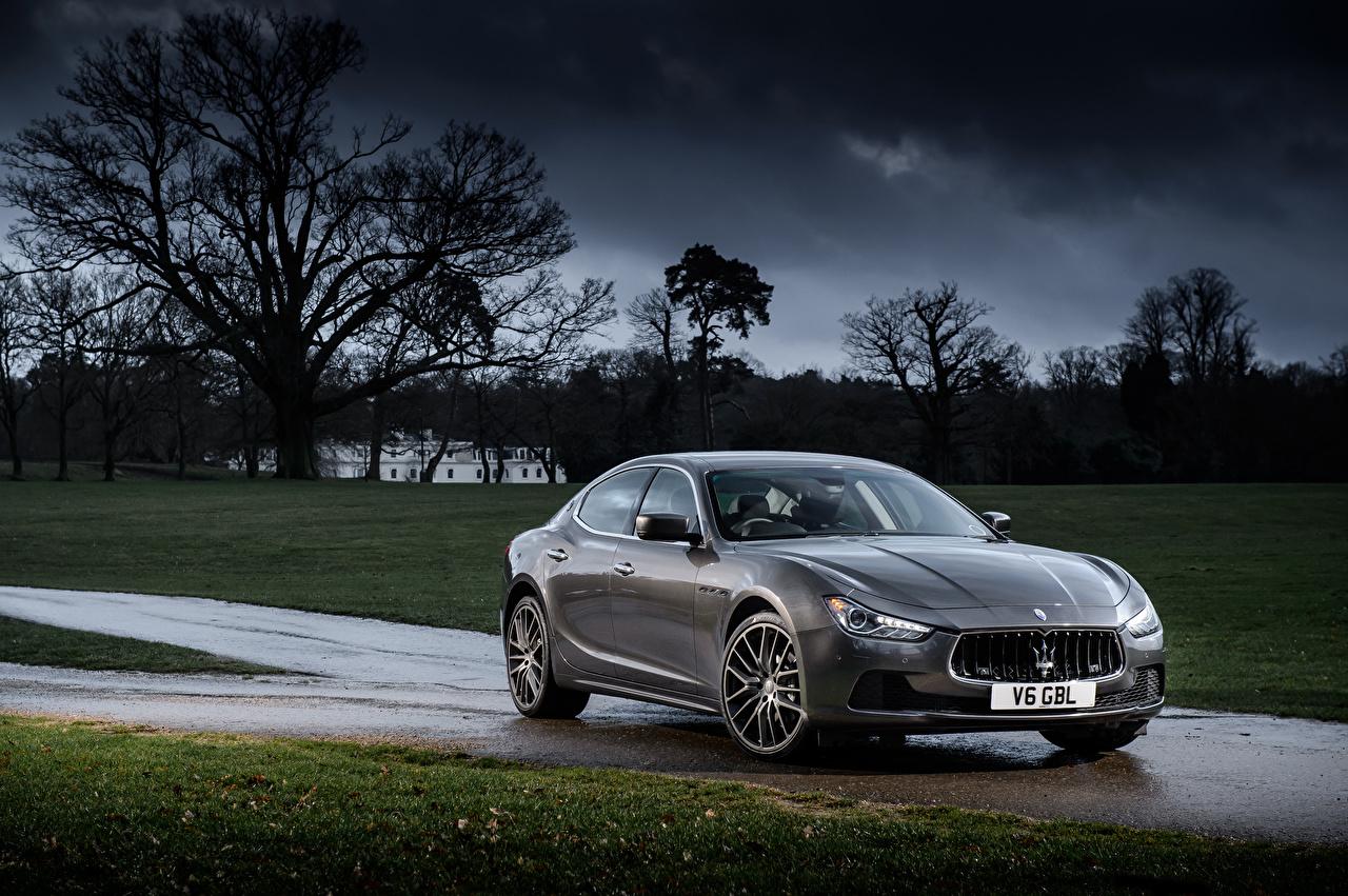 Фотография Maserati 2013-17 Ghibli Серый Авто Металлик Мазерати Машины Автомобили