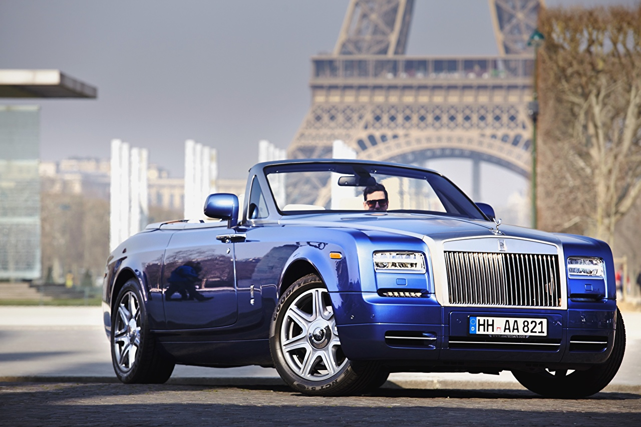 Обои phantom, drophead, Rolls royce. Автомобили foto 15