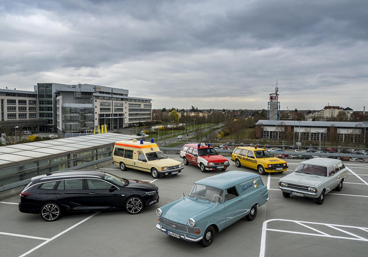 Фотография Opel Ретро Автомобили Много Опель Винтаж старинные Авто Машины