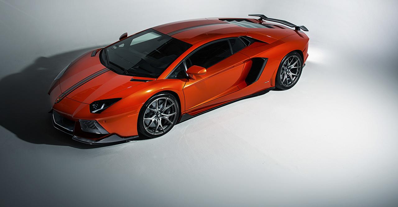 Фотография Ламборгини lp-700-4 aventador Оранжевый Автомобили Lamborghini оранжевых оранжевые оранжевая авто машина машины автомобиль