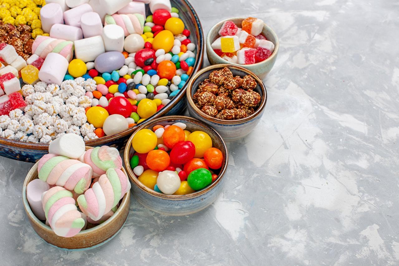 Фото Драже Конфеты Маршмэллоу Пища Сладости зефирки Еда Продукты питания сладкая еда