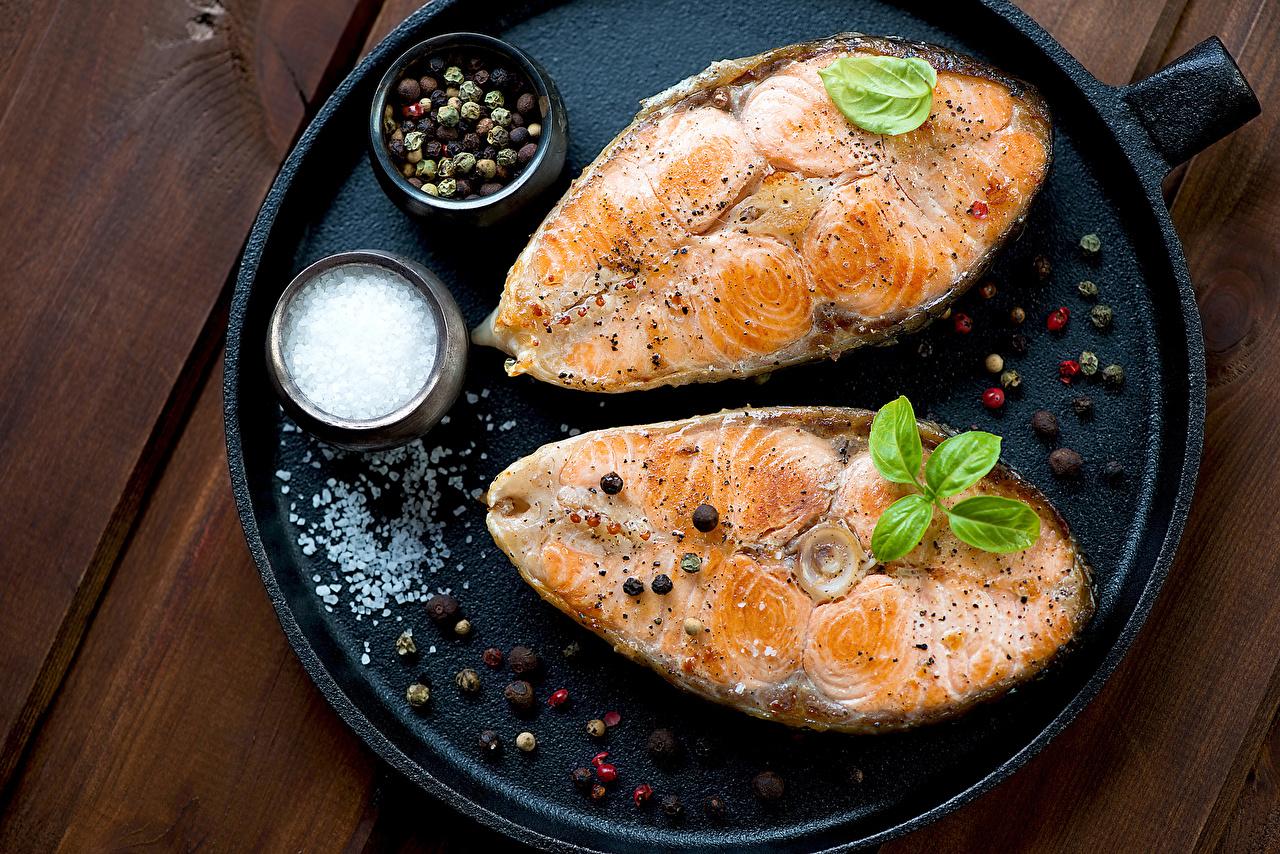 Картинка Соль Рыба Специи Продукты питания Еда Пища пряности приправы