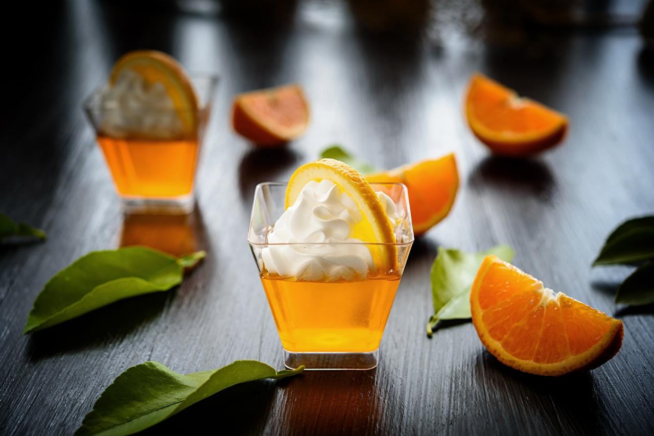 Обои сливками Апельсин Еда Рюмка Коктейль Сливки Пища рюмки Продукты питания