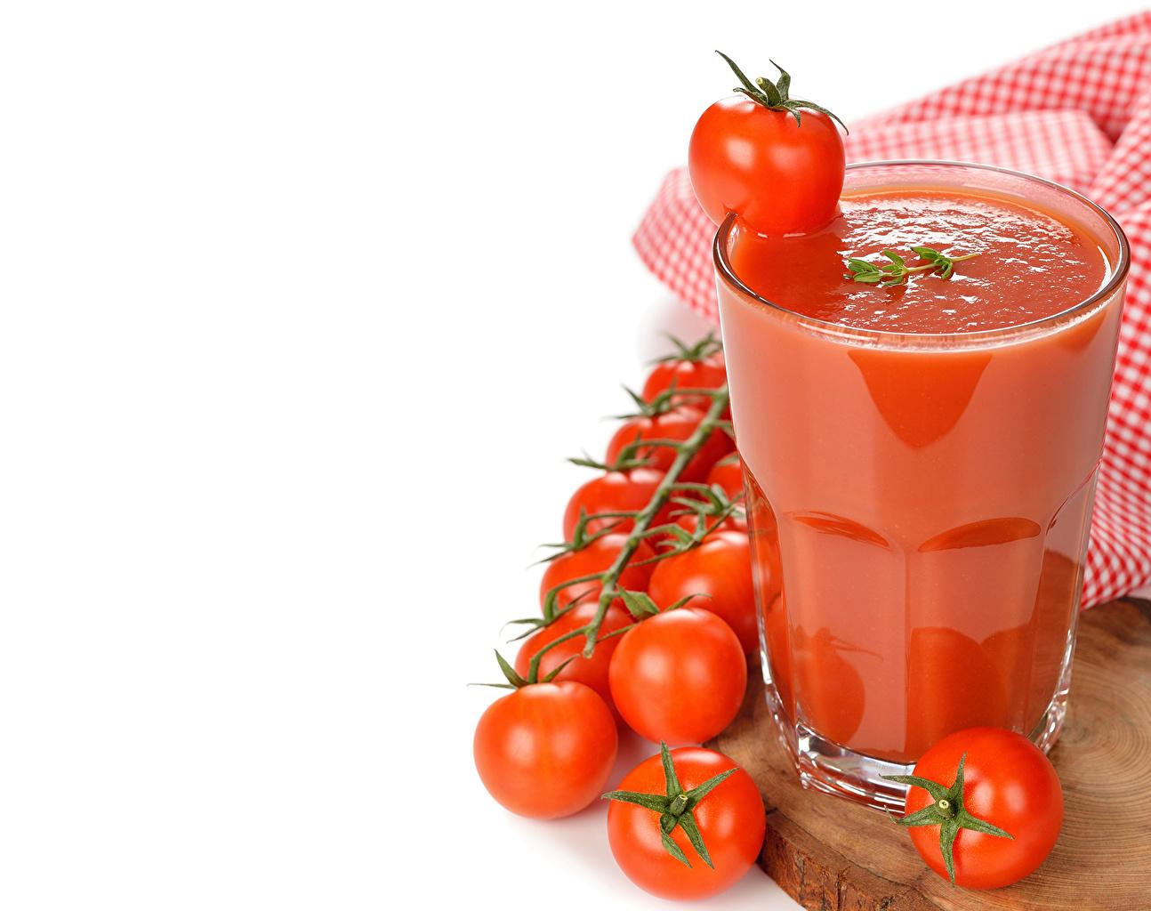 Обои для рабочего стола Сок Томаты стакана Продукты питания Напитки Помидоры Стакан стакане Еда Пища напиток