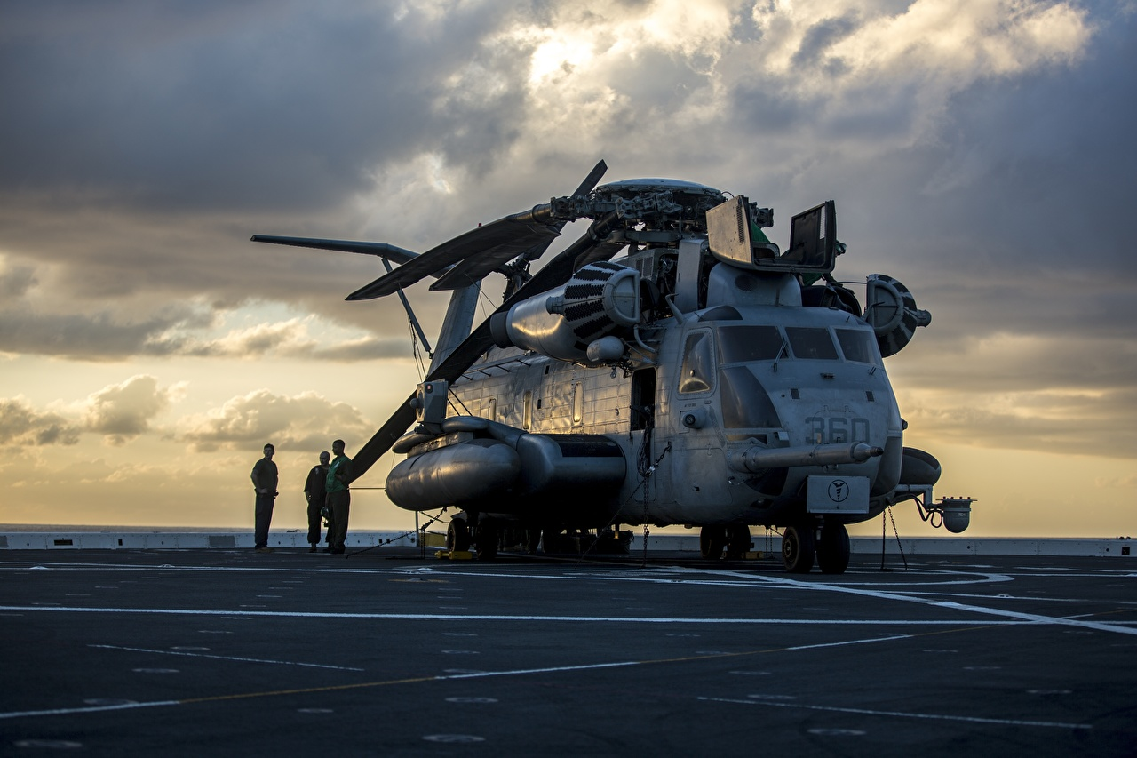 Картинка Вертолеты Американские US Marine Corps, CH-53E Super Stallion Авиация вертолет американский американская