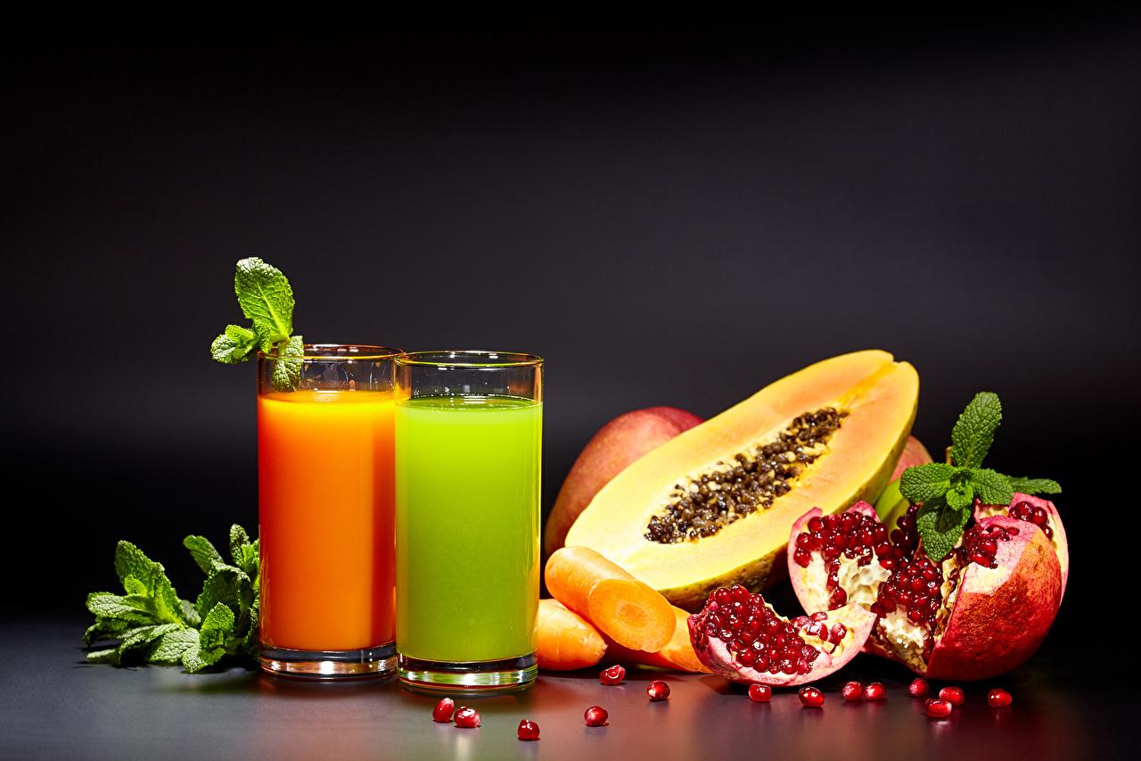 Фотографии Сок Зерна Гранат стакана Еда Овощи Фрукты зерно Стакан стакане Пища Продукты питания