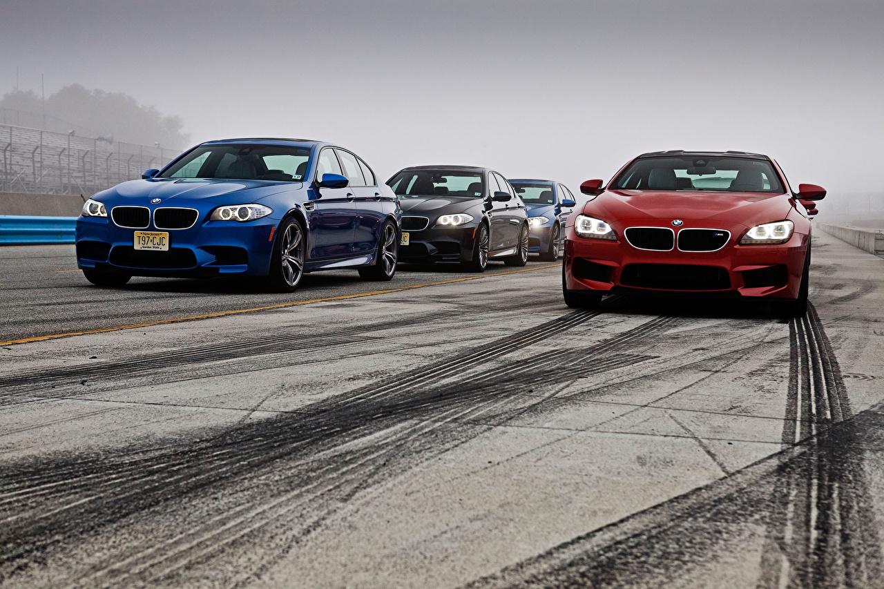 Фотографии БМВ M5, M6 Дороги машины BMW авто машина Автомобили автомобиль