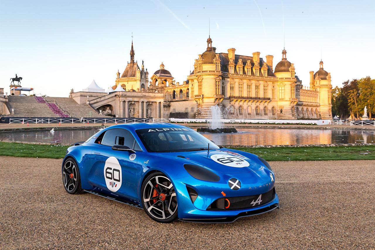 Фотография Renault Стайлинг 2015 Alpine Celebration Concept Синий Металлик Автомобили Рено Тюнинг синих синие синяя авто машина машины автомобиль