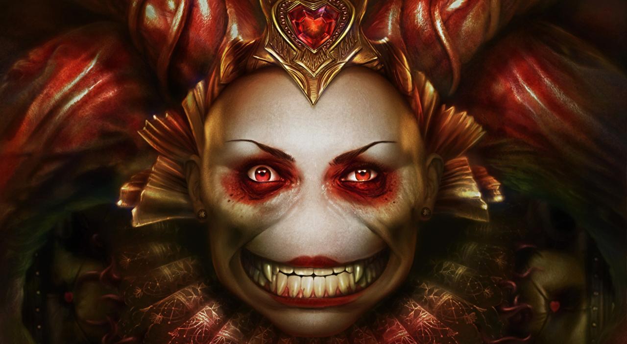 Фотографии монстр queen Фэнтези рычит Взгляд Монстры чудовище Фантастика злой Оскал злость смотрит смотрят