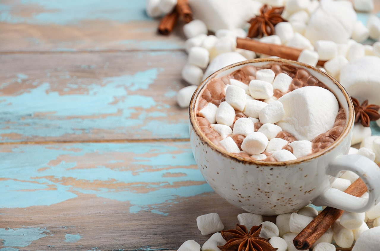 Картинки Маршмэллоу Горячий шоколад Еда кружки зефирки Какао напиток Пища Кружка кружке Продукты питания