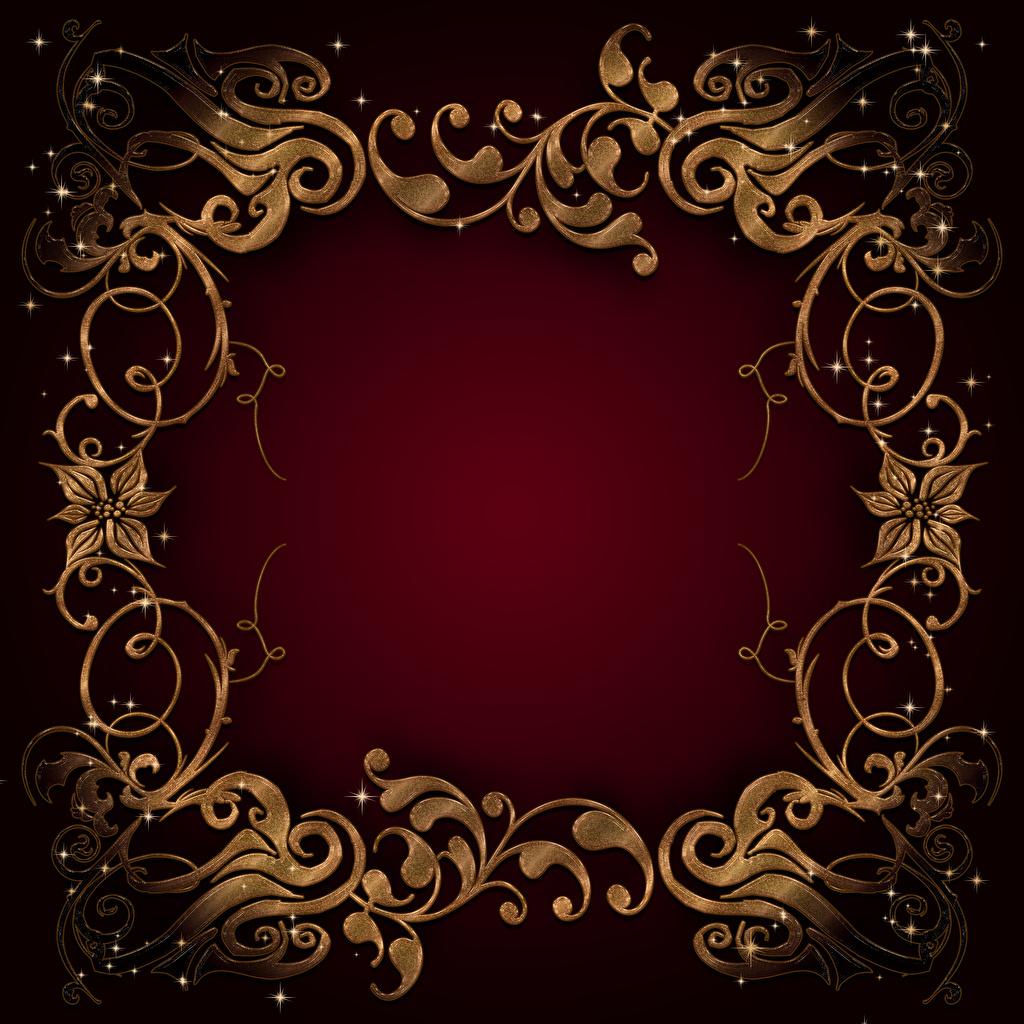 Фотография Узоры Шаблон поздравительной открытки Цветной фон орнамент