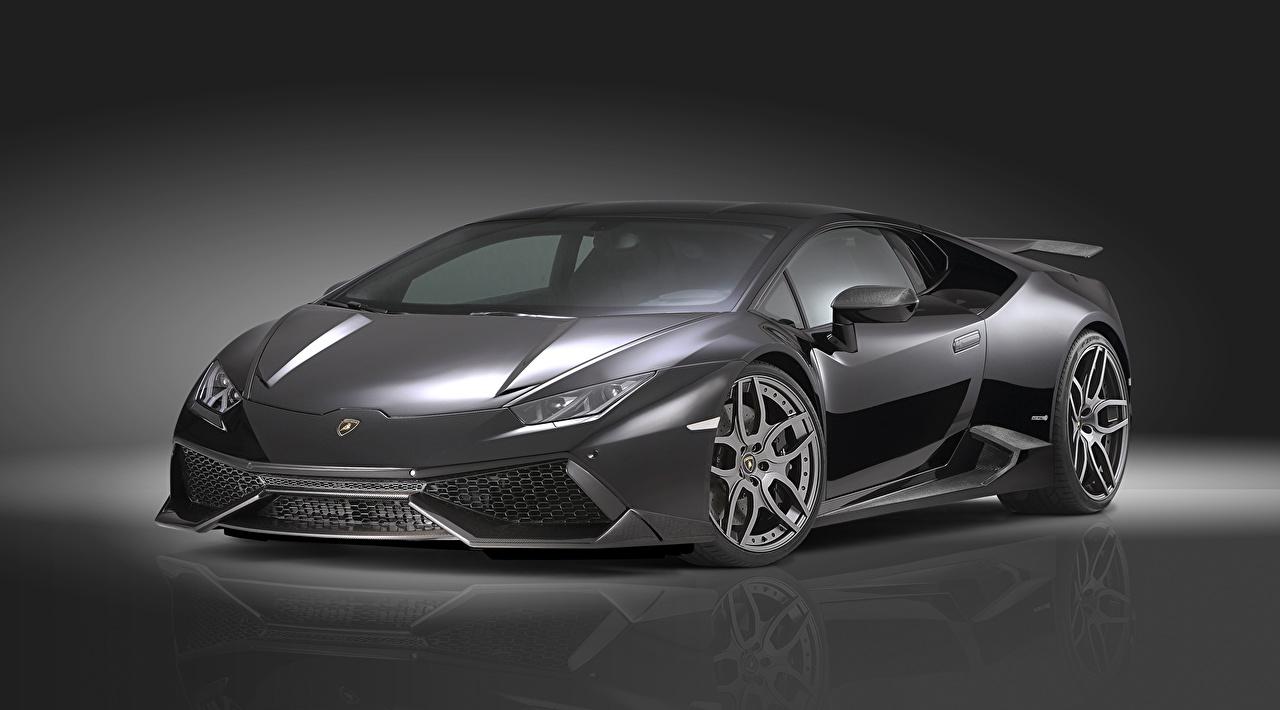 Фотографии Lamborghini Novitec Torado Huracan LP 610-4 LB724 Роскошные серая машины Ламборгини дорогие дорогой дорогая люксовые роскошная роскошный серые Серый авто машина автомобиль Автомобили