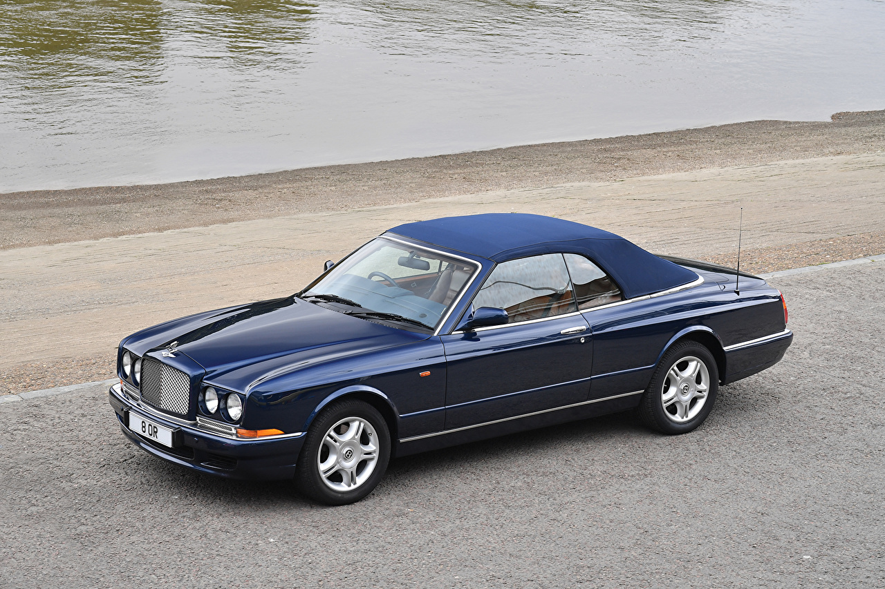 Картинка Bentley 1995-2002 Azure синяя авто Металлик Бентли синих синие Синий машина машины автомобиль Автомобили