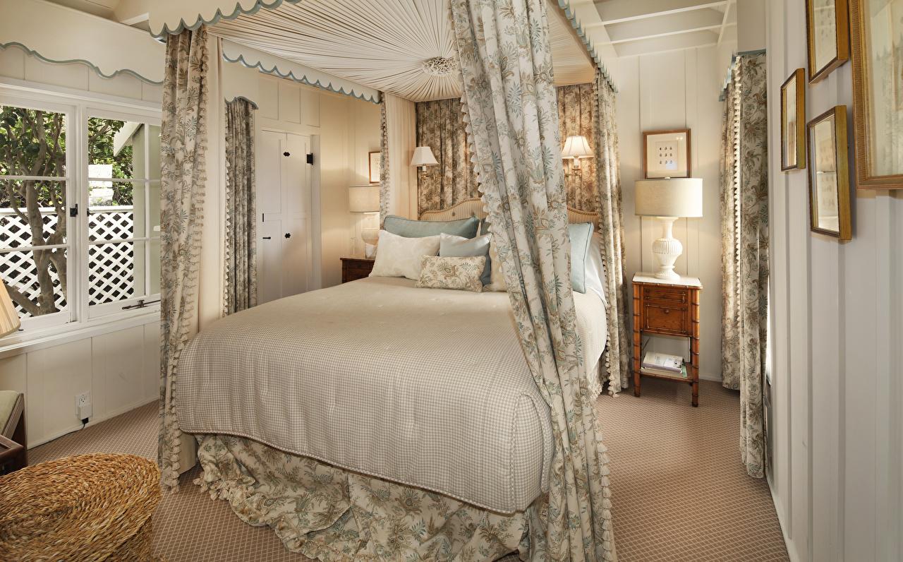 Фотография Спальня Интерьер Лампа Кровать Дизайн