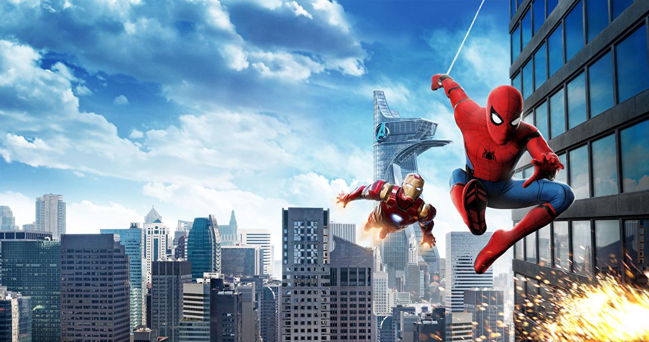 Картинка Железный человек Человек-паук: Возвращение домой Герои комиксов Человек паук герой Фильмы Кино