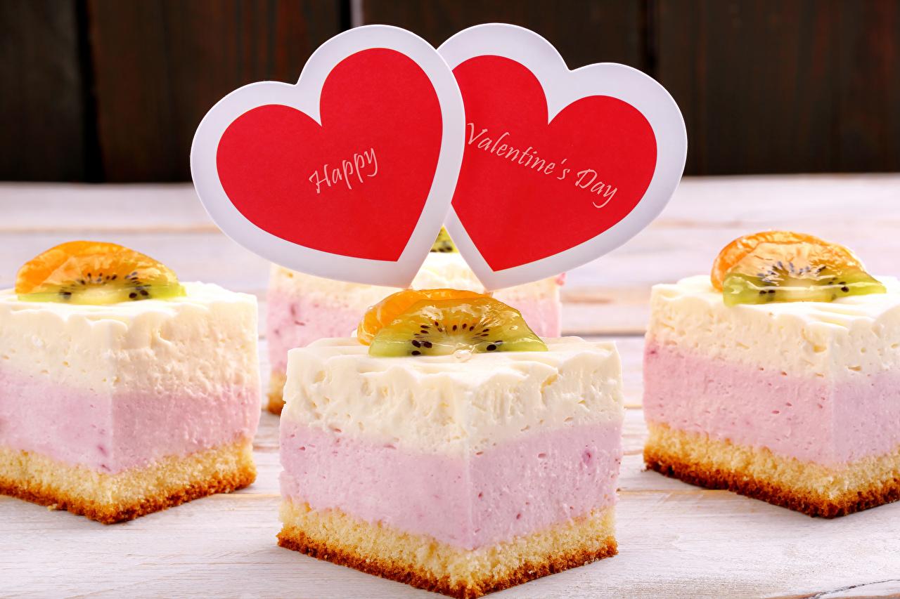 Картинка День святого Валентина Сердце Еда Пирожное сладкая еда День всех влюблённых серце сердца сердечко Пища Продукты питания Сладости