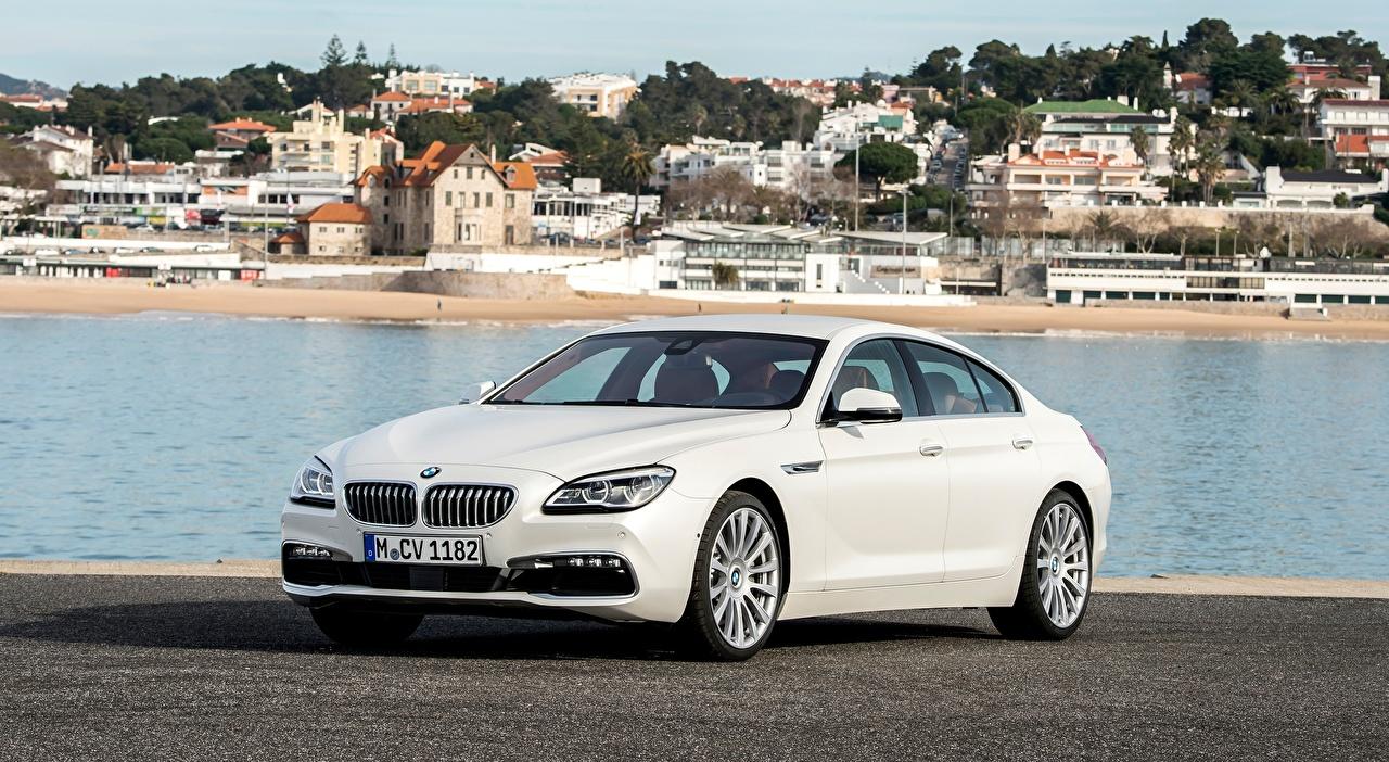 Картинка BMW 650i, Gran Coupe, Individual, 2015 Седан белые машины Металлик БМВ белая Белый белых авто машина Автомобили автомобиль