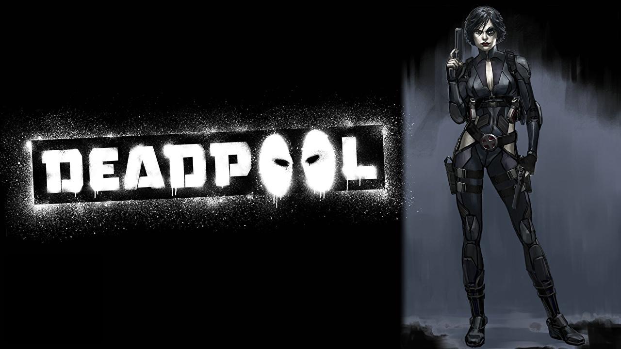 Фото супергерои Deadpool герой domino девушка Фантастика Герои комиксов Дэдпул Фэнтези Девушки молодая женщина молодые женщины